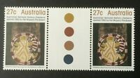Australian Stamps 1982 27c National Gallery Gutter pair Fresh mint never hinged