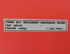 """(3) TIMING BELT REPLACEMENT STICKER DECAL 3.5"""" x 0.63"""" ERMA755305 FITS: TOYOTA"""