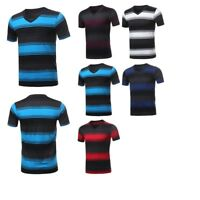 FashionOutfit Men's Casual Soft Striped V-Neck Short Sleeve Cotton Based Tee
