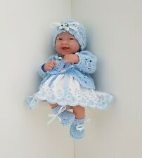 Dolls Clothes for 14 in / 35 cms  BERENGUER  LA NEWBORN / CUPCAKE / REBORN  blue
