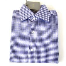 J-2532150 New Tom Ford Purple Checked Long Sleeve Oxford Shirt Size 15