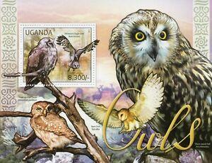 Uganda Birds on Stamps 2012 MNH Owls Verreaux's Eagle-Owl Barn Owl Owlet 1v S/S