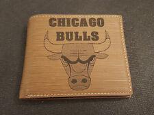 Chicago Bulls Wallet Laser Engraved