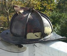 Vintage Cairns & Brother Leather Fireman Fire Helmet, As Is Condition
