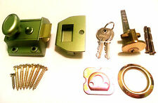 Traditional Nightlatch Narrow Style 40mm Backset Visi Green door lock