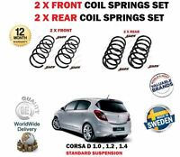 FOR VAUXHALL OPEL CORSA D 1.0 1.2 1.4 2006-> 2X FRONT + 2X REAR COIL SPRINGS SET
