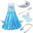 Kids Girls Dresses Elsa Frozen dress costume Princess Anna party dresses Cape _