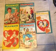 Lot 5 Issues 1955 &1957 of Children's Playmate Magazine 2/55 4/55 5/55 11/5 2/57