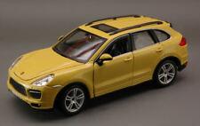 Porsche Cayenne Turbo 1:24 Yellow Burago Bu21056Y Modellino Diecast