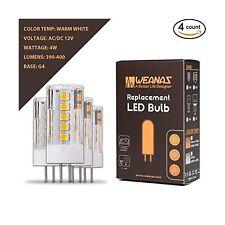 Weanas 4x G4 Base 33 LED Light Bulb Lamp 2835 SMD 4 Watt AC DC 12V Low Voltag...