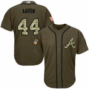 Fanmade Hank Aaron Atlanta Braves Customize Brown Baseball Jersey Size XS-4XL