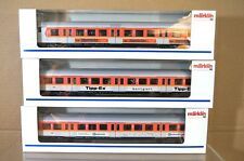Marklin Märklin 4104 4105 4106 Luces DB S-BAHN Naranja Gris Control Coach X3 NC