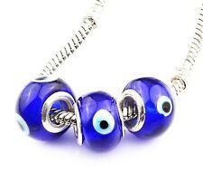 Evil Eye Charm for Bracelet or Necklace Evil Eye Bead - Protective Charm- QTY 3