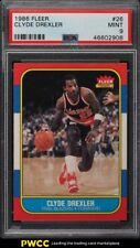 1986 Fleer Basketball Clyde Drexler ROOKIE RC #26 PSA 9 MINT