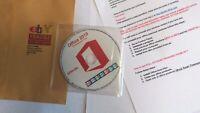 Microsoft Office Professional 2019 DVD Disc English Windows [ 32 & 64 Bit ]