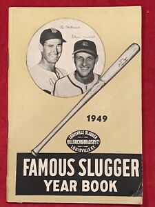 Vintage 1949 Famous Slugger Yearbook Ted Williams Stan Musial Louisville Slugger