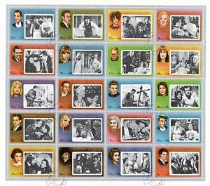 1972 Fujeira Movies Stars - Hollywood Legends Full Sheet 20  CTO