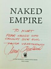 SIGNED true 1st edition TERRY GOODKIND  2003 NAKED EMPIRE hardcover  jacket FINE
