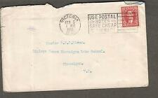 Canada 1941 cover Victoria to Shawnigan School Vancouver Island/use postal notes