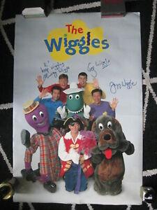 THE WIGGLES...1997... SIGNED...ORIGINAL MEMBERS...POSTER