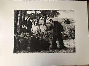 KAROLINA LARUSDOTTIR (1944-2019) Onlookers large lithograph Curwen Chilford