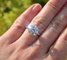 3Ct Six Prong Off White Moissanite Wedding Engagement Ring 925 Sterling Silver
