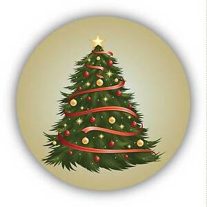 24-Pack 40mm Christmas Tree Decor Xmas Stickers Decals ideal decorating cards