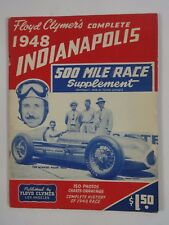 Floyd Clymer's 1948 Indianapolis 500 Yearbook Supplement History