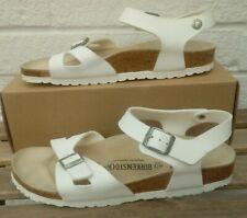 White Birkenstock Sandals Flats Size 7 EUR 40