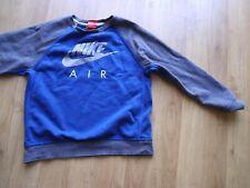BOYS NIKE AIR BLUE & GREY SWEATSHIRT JUMPER SIZE L AGE 12-13 YRS