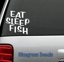 D1067 EAT SLEEP FISH DECAL STICKER Car Truck SUV Van ROD REEL LURE FISHING WALL