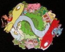 Disney Pin 34785 DA Auctions P.I.N.S. Lilo Stitch Rocket Cars Spinner LE JUMBO