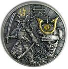 2019 2 Oz Silver $5 Niue SAMURAI WARRIORS Antique Finish Coin.