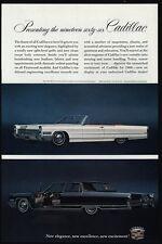 1966 CADILLAC Convertible DeVILLE Luxury Car - FLEETWOOD BROUGHAM - VINTAGE AD