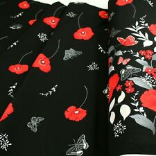 Poppy Promenade By Kanvas 100% Cotton Clothing  Backing Quilting Craft Fabric