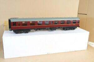 GAUGE 1 MODEL COMPANY RP123.SK G SCALE BR MAROON 2nd CLASS CORRIDOR COACH M25707