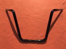 """16"""" GLOSS BLACK 1.25"""" Ape Hanger Handlebar fits Harley Davidson ROAD KING FLHR"""