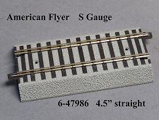 "LIONEL AMERICAN FLYER FASTRACK 4.5"" STRAIGHT S GAUGE AF 2 rail train 6-47986 NEW"