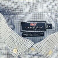 Vineyard Vines Men's Long Sleeve Plaid Button Down Whale Shirt Size M Medium