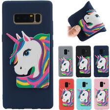 Cute 3D Unicorn TPU Silicone Soft Phone Case Cover  For Samsung Galaxy Huawei