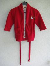 La Compagnie Kinder Bademantel Gr. 92 rot mit schönen Innenfutter Frottee Baby