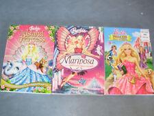 Barbie The Island Princess, Mariposa and Princess Charm School Movies (DVD)
