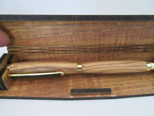 Flexible Pen Box / Case + Bethlehem Olive Wood Pen. Ballpoint  .not blanks