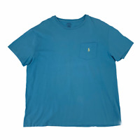 Polo Ralph Lauren T-Shirt Men's Size L Blue Classic Fit Short Sleeve *READ*