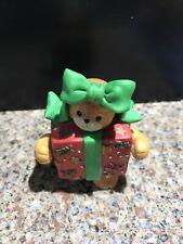Enesco Lucy Riggs Porcelain Bear Figurine – bear dressed as Christmas present