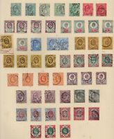 1902/12 EDWARD VII LARGE USED SELECTION INCLUDING SHADES AND CDS