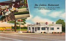 1953 Postcard The Embers Restaurant Cafe Diner Chattanooga TN  Ringgold