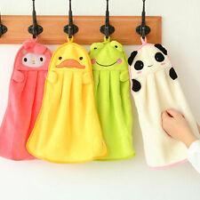 Child Nursery Hand Towel Soft Plush Cartoon Animal Hanging Wipe Bathing Towel