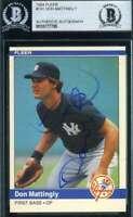 Don Mattingly 1984 Fleer Rookie BAS Beckett Coa Autograph Authentic Hand Signed