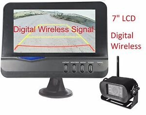 "7"" DIGITAL WIRELESS Backup Camera REAR VIEW Truck + trailer 5th wheels USA ship"